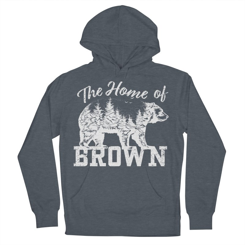 The Home of Brown Men's French Terry Pullover Hoody by Vet Design's Shop
