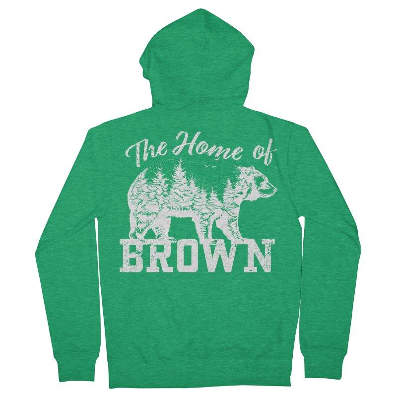 The Home of Brown Women's Zip-Up Hoody by Vet Design's Shop