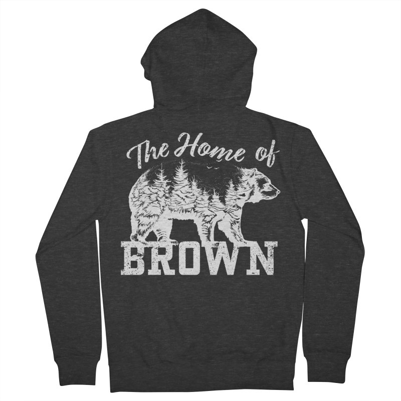 The Home of Brown Women's French Terry Zip-Up Hoody by Vet Design's Shop
