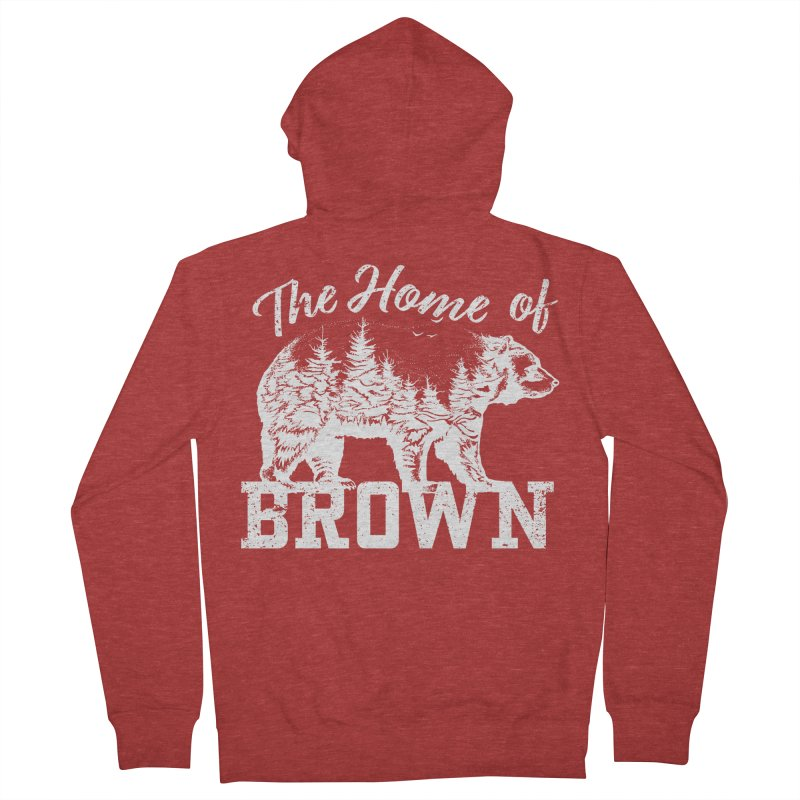 The Home of Brown Men's French Terry Zip-Up Hoody by Vet Design's Shop