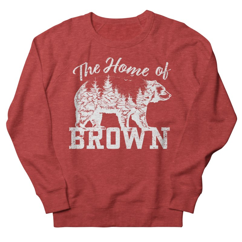 The Home of Brown Men's French Terry Sweatshirt by Vet Design's Shop