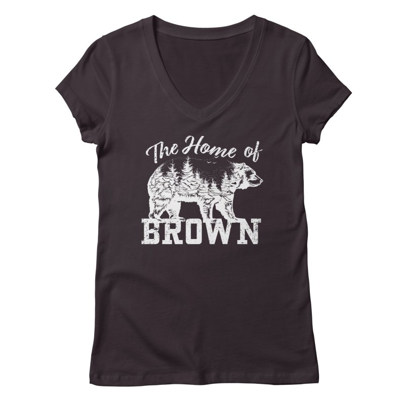 The Home of Brown Women's V-Neck by Vet Design's Shop