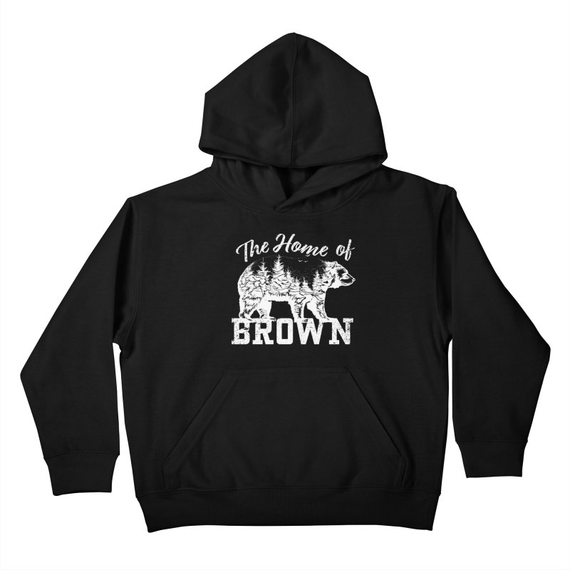 The Home of Brown Kids Pullover Hoody by Vet Design's Shop