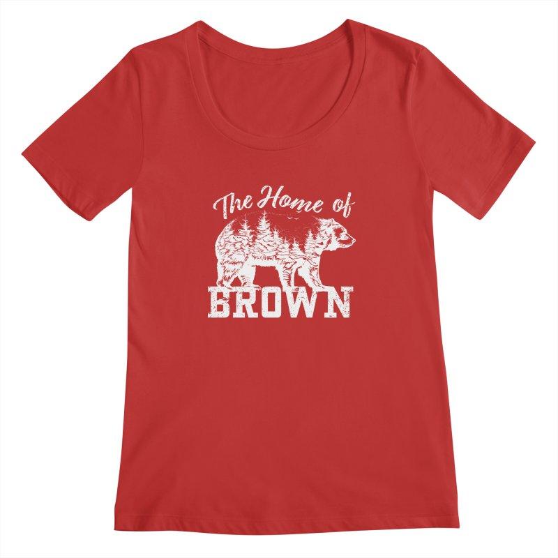 The Home of Brown Women's Regular Scoop Neck by Vet Design's Shop