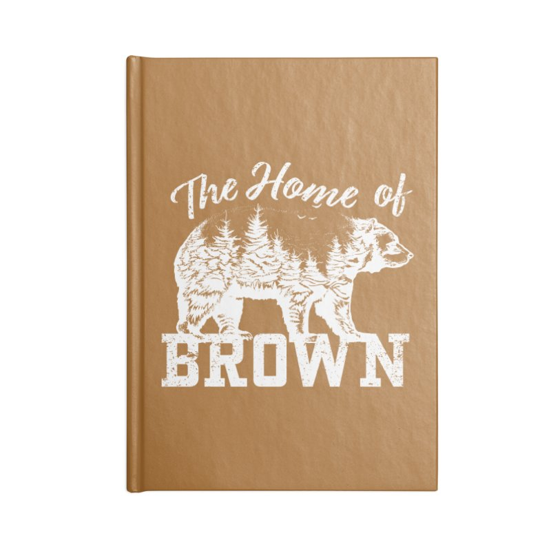 The Home of Brown Accessories Lined Journal Notebook by Vet Design's Shop