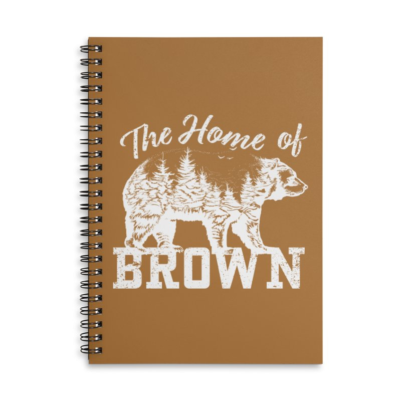The Home of Brown Accessories Lined Spiral Notebook by Vet Design's Shop
