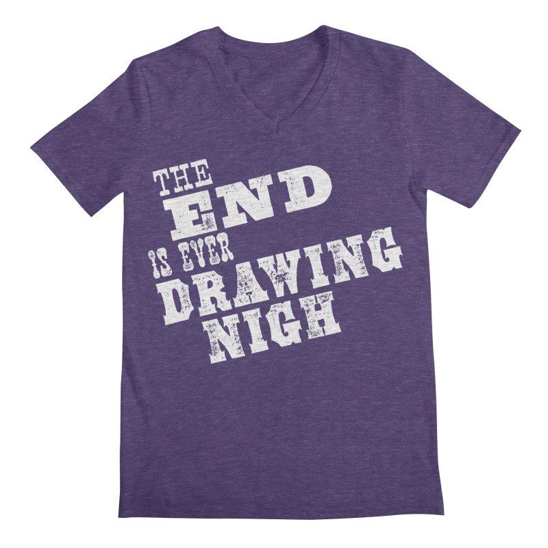 The End Is Ever Drawing Nigh Men's Regular V-Neck by Vet Design's Shop
