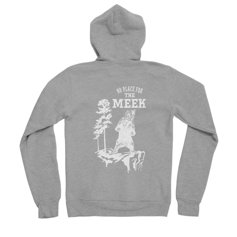 No Place for the Meek Men's Sponge Fleece Zip-Up Hoody by Vet Design's Shop