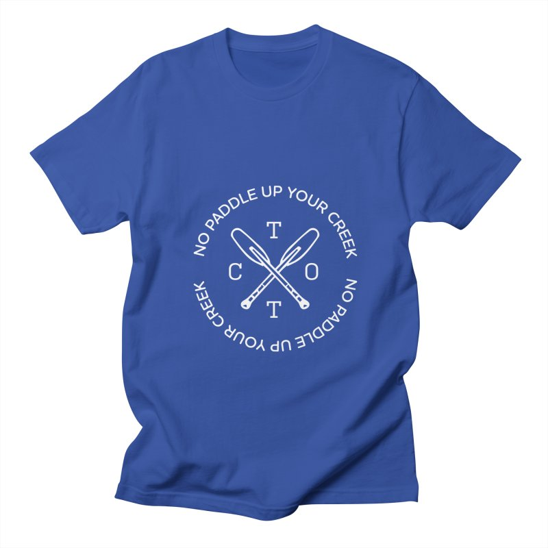 No Paddle Up Your Creek in Men's Regular T-Shirt Royal Blue by Vet Design's Shop
