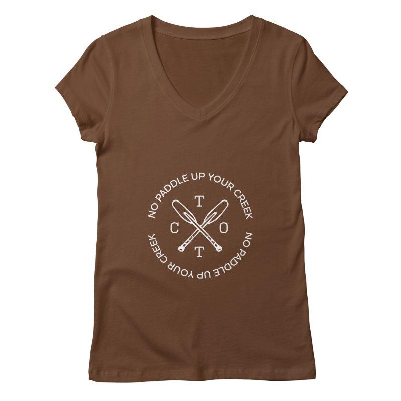 No Paddle Up Your Creek Women's V-Neck by Vet Design's Shop