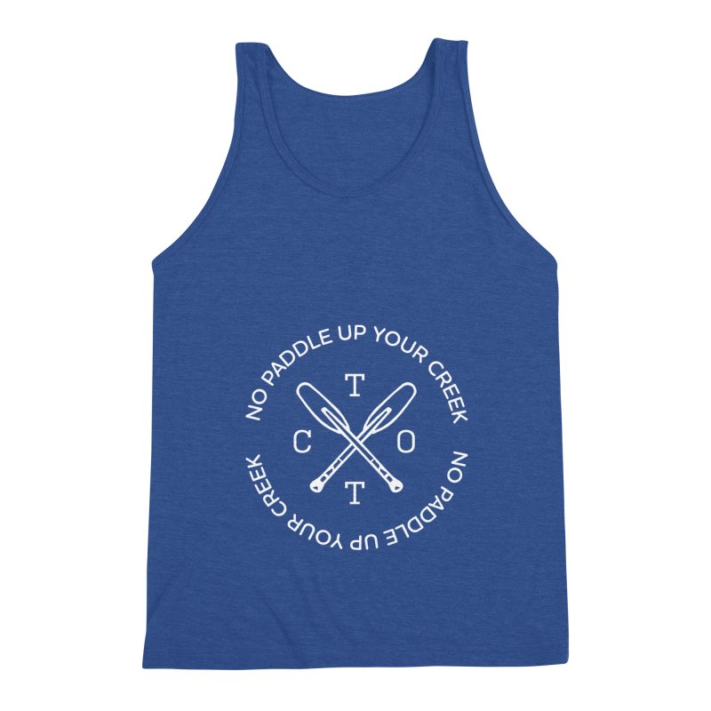 No Paddle Up Your Creek Men's Triblend Tank by Vet Design's Shop