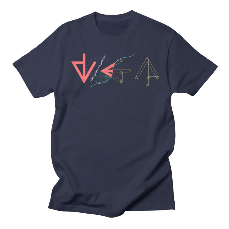 VGA Gallery T-Shirt in Men's Regular T-Shirt Navy by VGA Gallery's Artist Shop