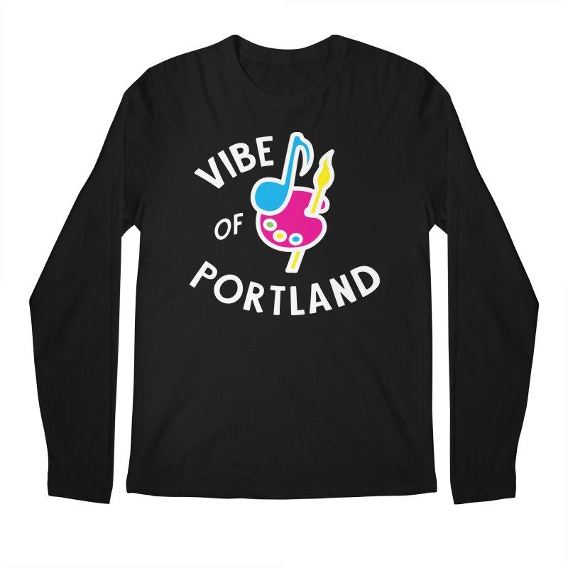 Vibe Logo - White Men's Longsleeve T-Shirt by vibepdx's Artist Shop