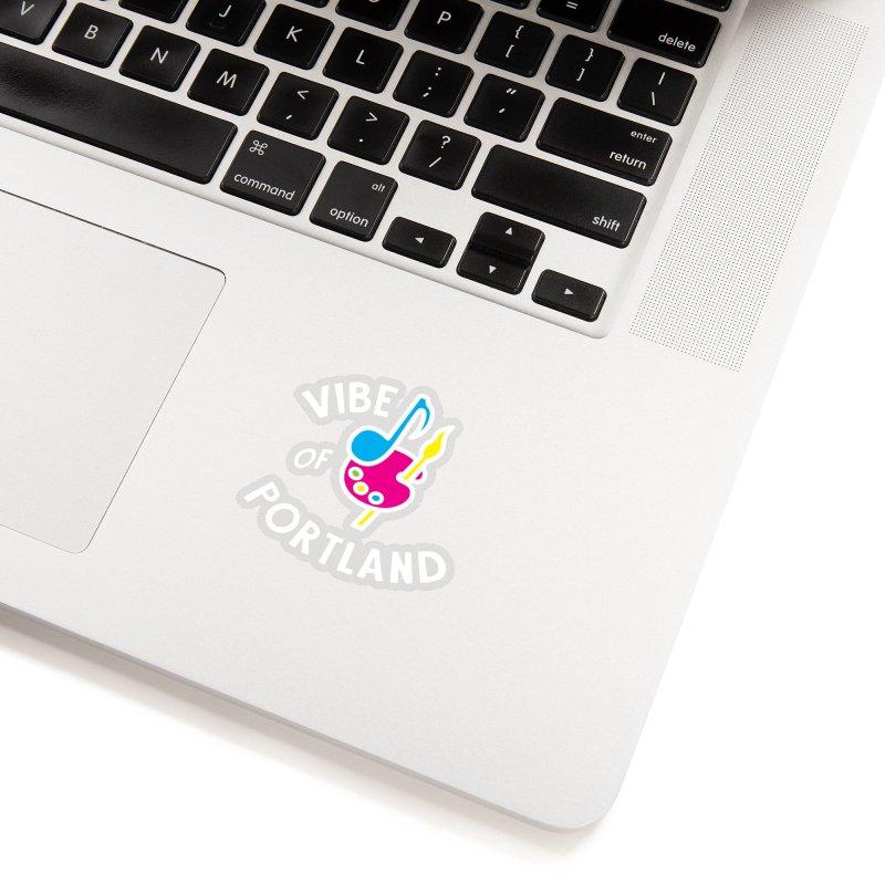 Vibe Logo - White Accessories Sticker by vibepdx's Artist Shop