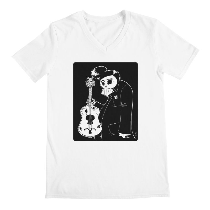 The Man In Black Men's V-Neck by viborjuhasart's Artist Shop