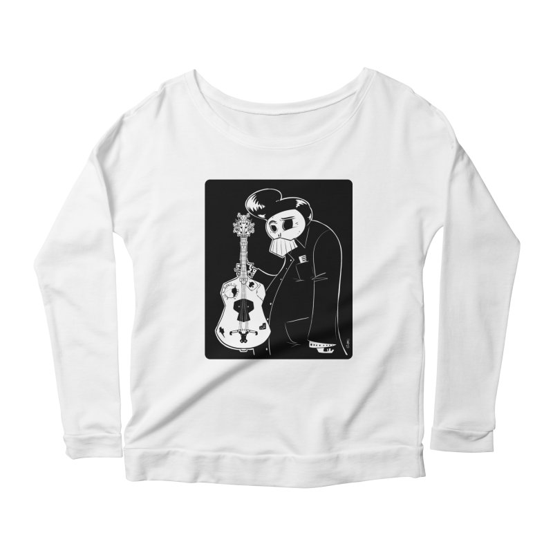 The Man In Black Women's Scoop Neck Longsleeve T-Shirt by viborjuhasart's Artist Shop