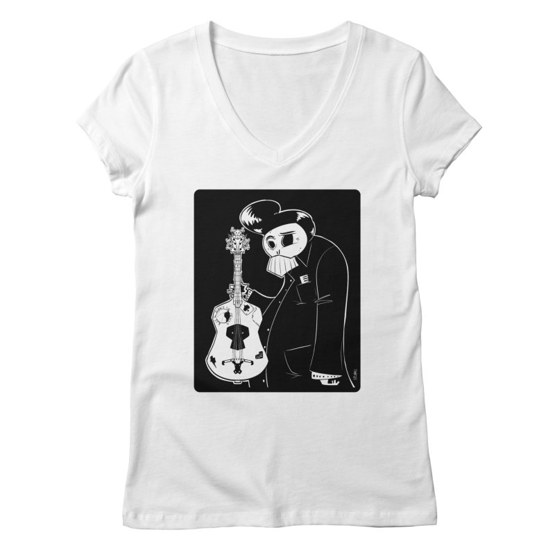 The Man In Black Women's Regular V-Neck by viborjuhasart's Artist Shop