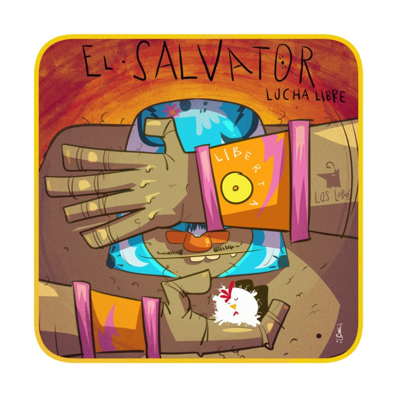Lucha! El Salvator Accessories Sticker by viborjuhasart's Artist Shop
