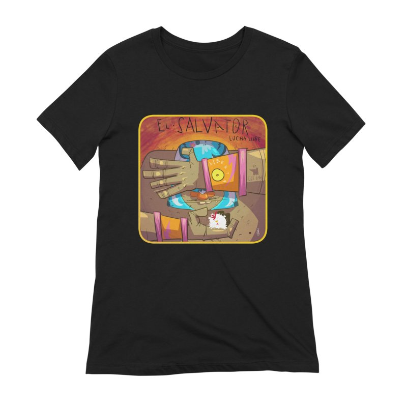 Lucha! El Salvator Women's Extra Soft T-Shirt by viborjuhasart's Artist Shop