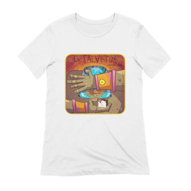 Lucha! El Salvator Women's Extra Soft T-Shirt by viborjuhasart's Artist Shop