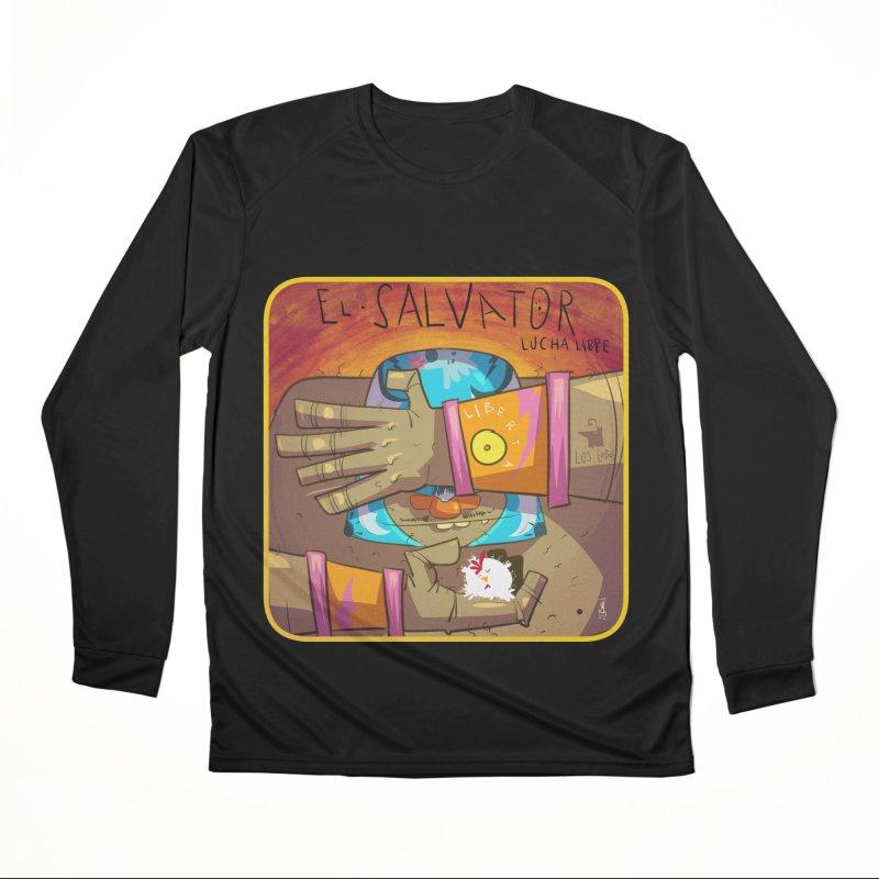 Lucha! El Salvator Women's Longsleeve T-Shirt by viborjuhasart's Artist Shop