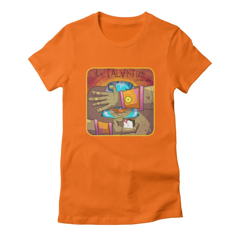 Lucha! El Salvator Women's Fitted T-Shirt by viborjuhasart's Artist Shop