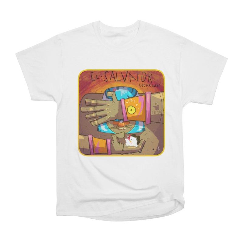Lucha! El Salvator Men's Heavyweight T-Shirt by viborjuhasart's Artist Shop