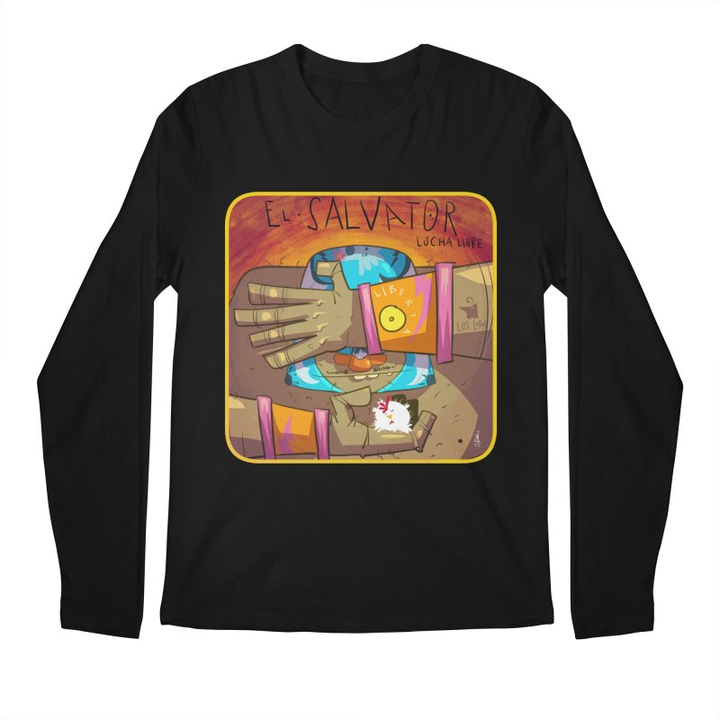 Lucha! El Salvator Men's Longsleeve T-Shirt by viborjuhasart's Artist Shop
