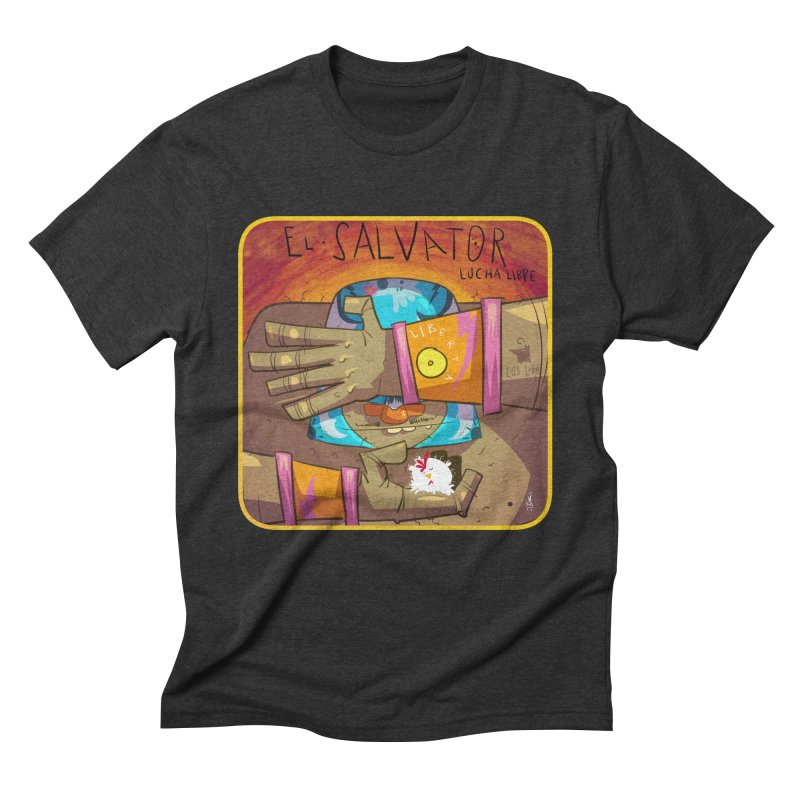 Lucha! El Salvator Men's Triblend T-Shirt by viborjuhasart's Artist Shop