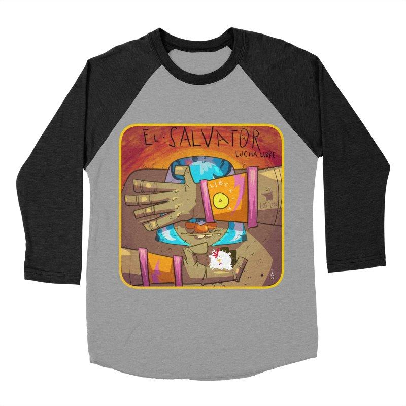 Lucha! El Salvator Women's Baseball Triblend Longsleeve T-Shirt by viborjuhasart's Artist Shop