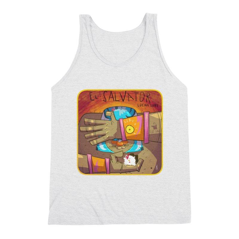 Lucha! El Salvator Men's Triblend Tank by viborjuhasart's Artist Shop