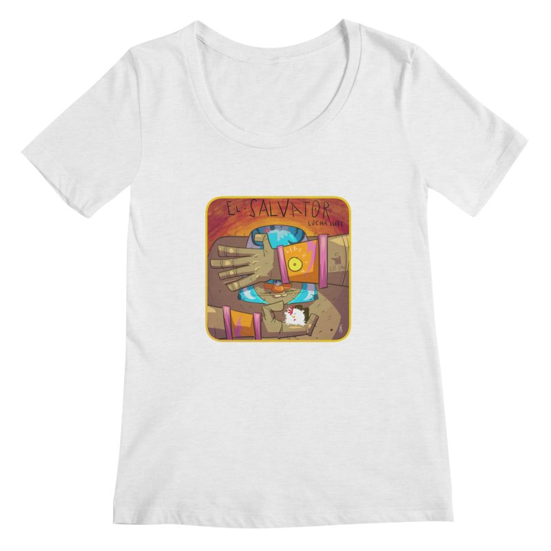 Lucha! El Salvator Women's Regular Scoop Neck by viborjuhasart's Artist Shop