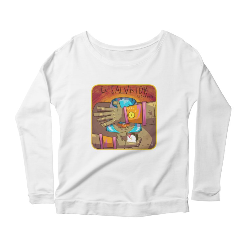 Lucha! El Salvator Women's Scoop Neck Longsleeve T-Shirt by viborjuhasart's Artist Shop