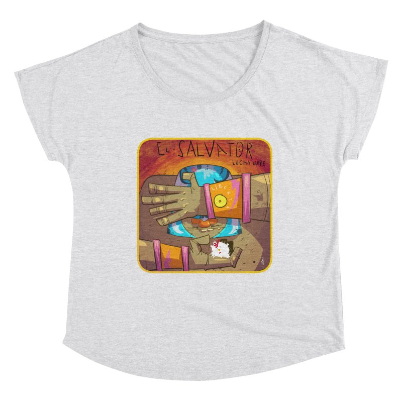Lucha! El Salvator Women's Dolman Scoop Neck by viborjuhasart's Artist Shop