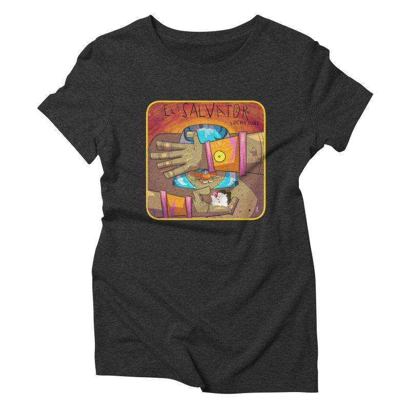 Lucha! El Salvator Women's Triblend T-Shirt by viborjuhasart's Artist Shop