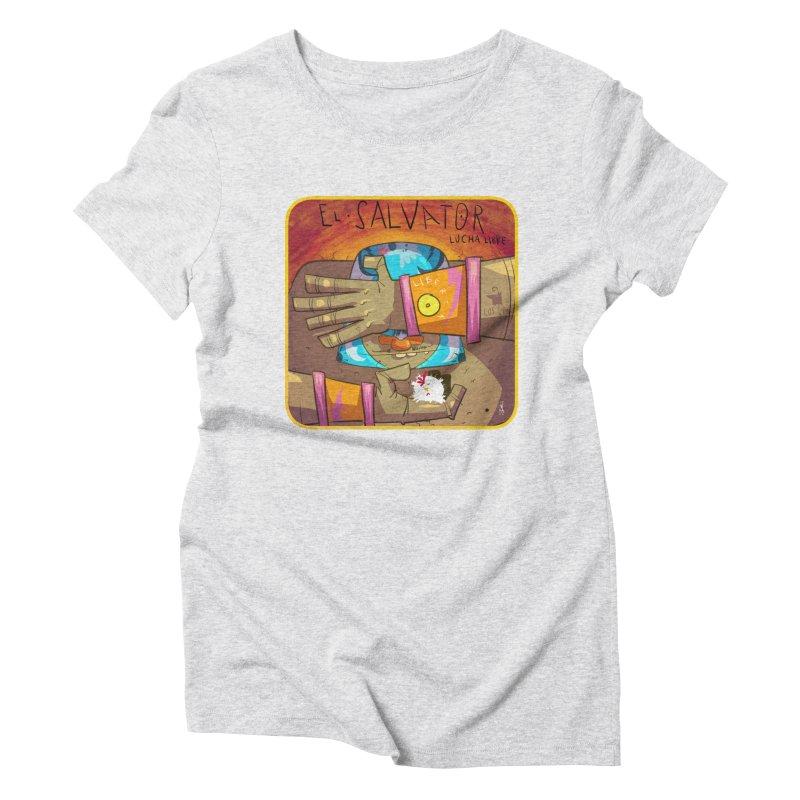 Lucha! El Salvator Women's T-Shirt by viborjuhasart's Artist Shop