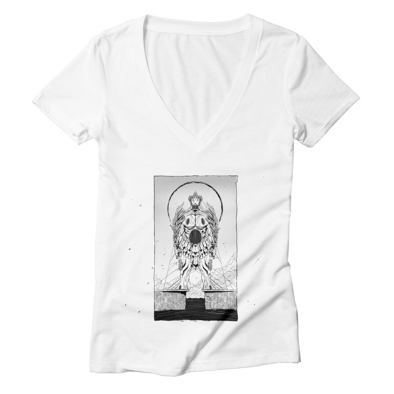 The Kolossus Women's V-Neck by viborjuhasart's Artist Shop