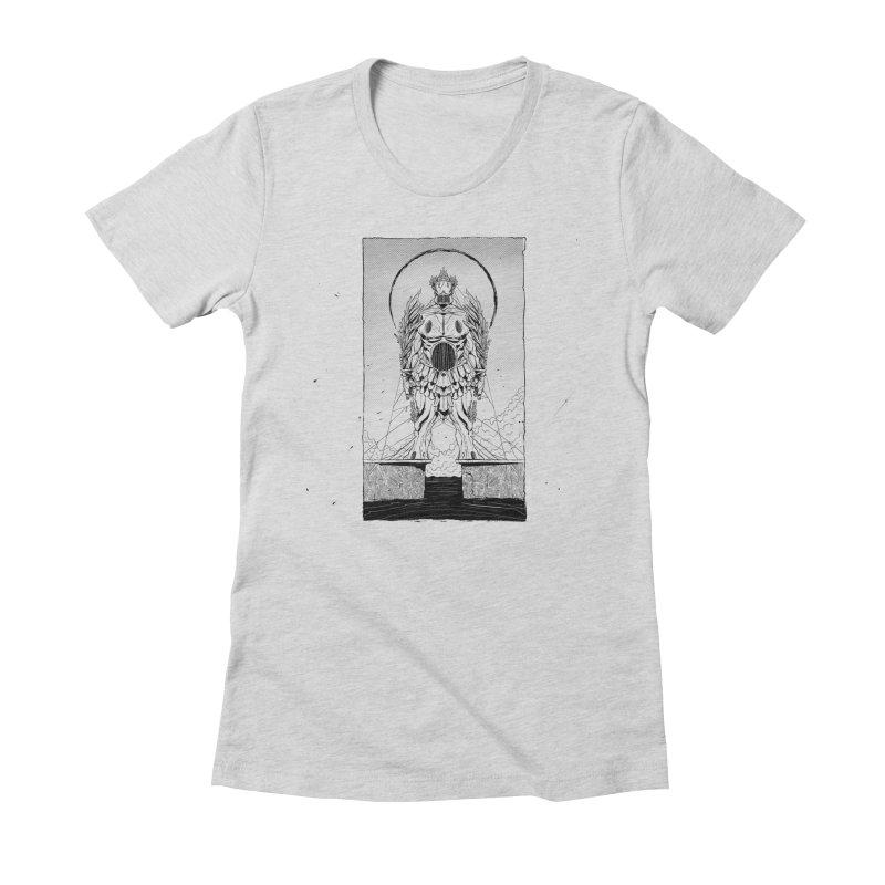 The Kolossus Women's Fitted T-Shirt by viborjuhasart's Artist Shop