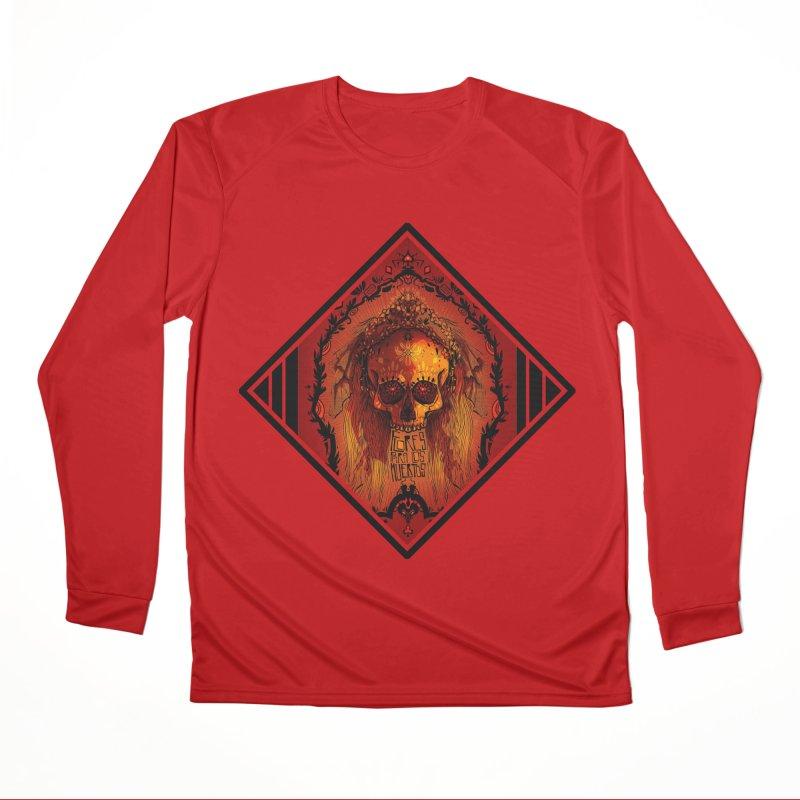 Flores para los Muertos Men's Longsleeve T-Shirt by viborjuhasart's Artist Shop