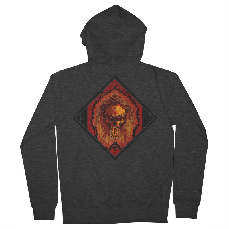 Flores para los Muertos Women's French Terry Zip-Up Hoody by viborjuhasart's Artist Shop