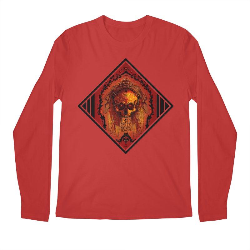 Flores para los Muertos Men's Regular Longsleeve T-Shirt by viborjuhasart's Artist Shop