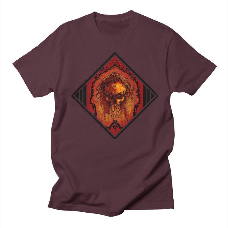 Flores para los Muertos Men's Regular T-Shirt by viborjuhasart's Artist Shop