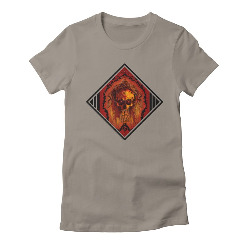 Flores para los Muertos Women's Fitted T-Shirt by viborjuhasart's Artist Shop