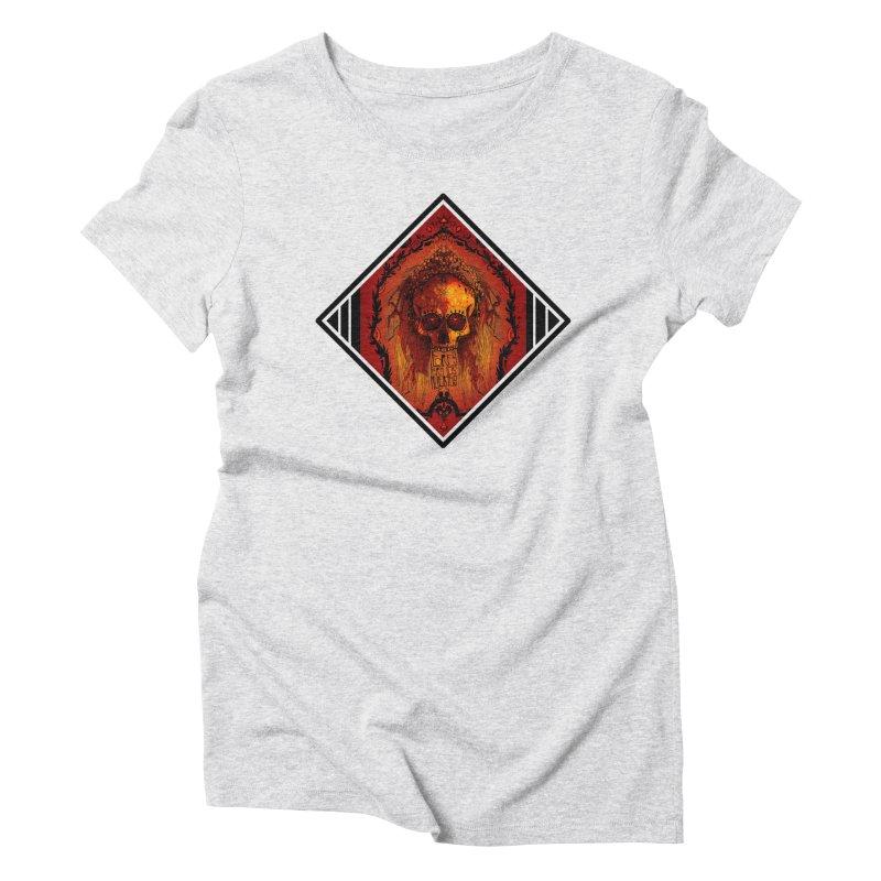 Flores para los Muertos Women's Triblend T-Shirt by viborjuhasart's Artist Shop