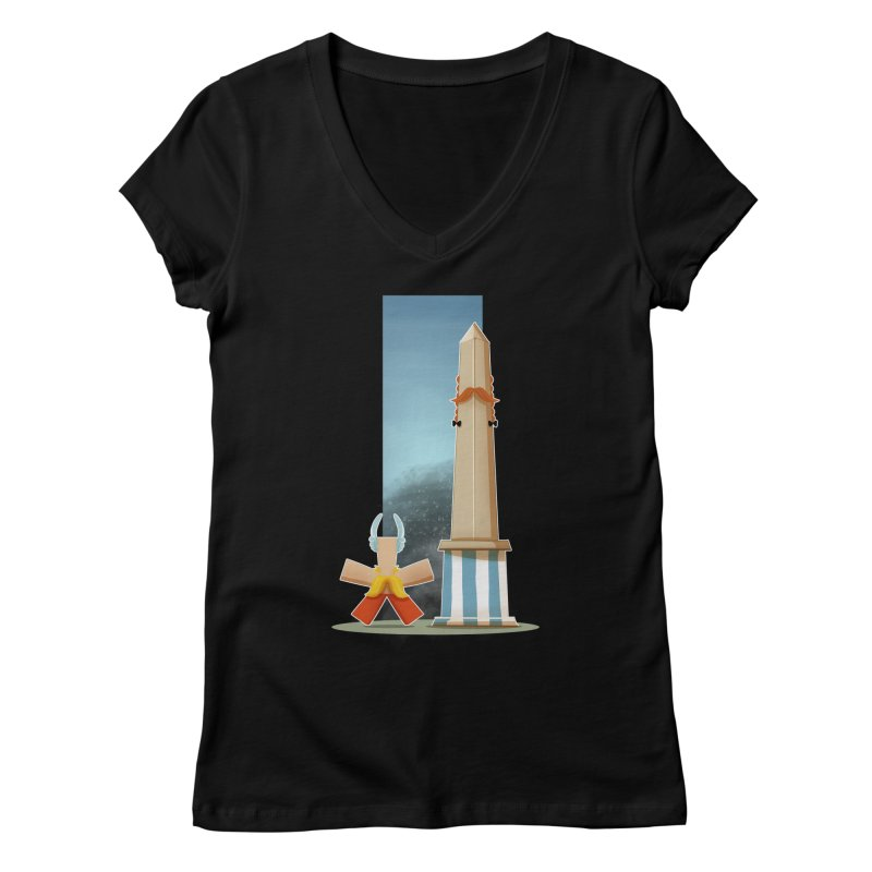 Friends Women's Regular V-Neck by viborjuhasart's Artist Shop