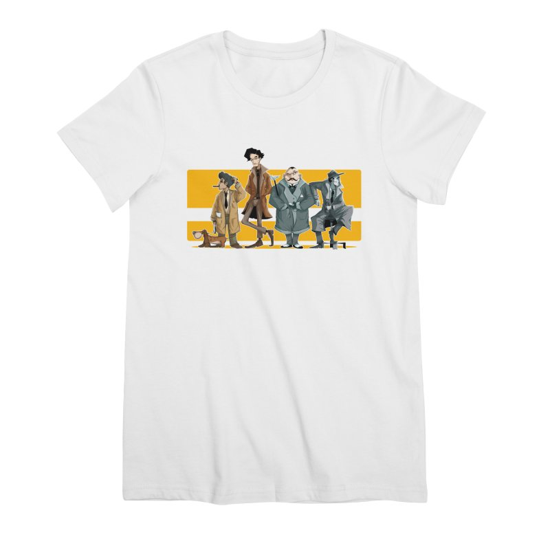 Curious Gentlemen Women's Premium T-Shirt by viborjuhasart's Artist Shop