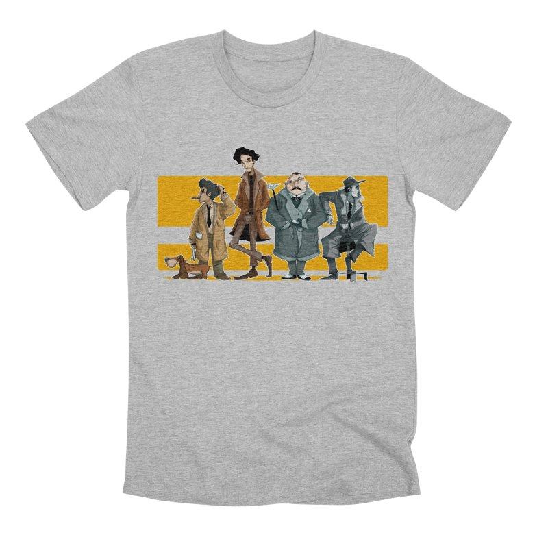 Curious Gentlemen Men's Premium T-Shirt by viborjuhasart's Artist Shop