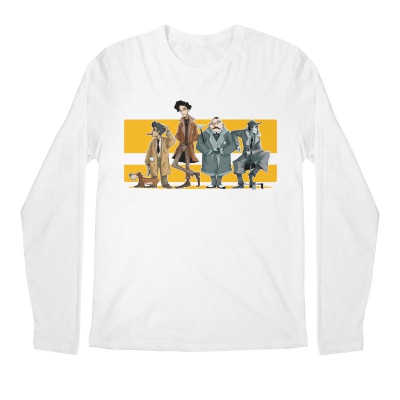 Curious Gentlemen Men's Regular Longsleeve T-Shirt by viborjuhasart's Artist Shop