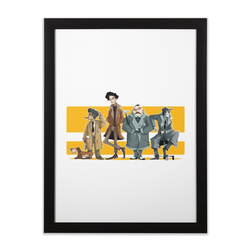 Curious Gentlemen Home Framed Fine Art Print by viborjuhasart's Artist Shop