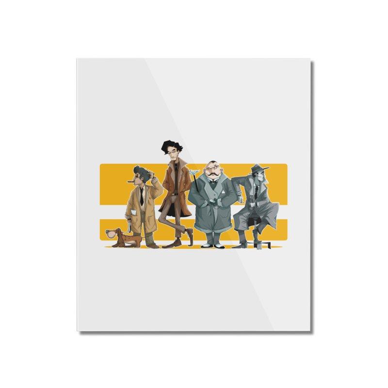 Curious Gentlemen Home Mounted Acrylic Print by viborjuhasart's Artist Shop